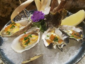 Oysters and Uni at SoHo Japanese Restaurant (Las Vegas, NV)